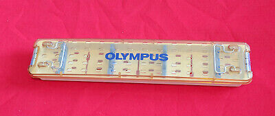 Olympus Surgical Two Scope Autoclave Sterilization Tray Case WA05990A w/ Lid