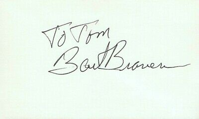 Bart Braverman Actor 1980 Hollywood Blvd TV Movie Autographed Signed Index Card