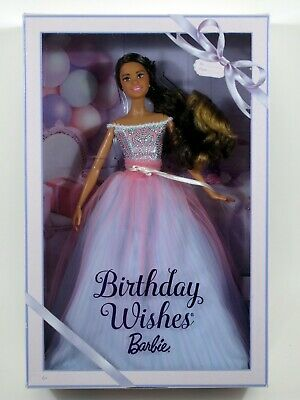 Damaged Package Barbie Collector BIRTHDAY WISHES 12 Latina Doll Pink Dress C