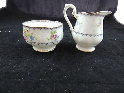 Royal Albert Petit Point China Mini Creamer and Open Sugar Bowl