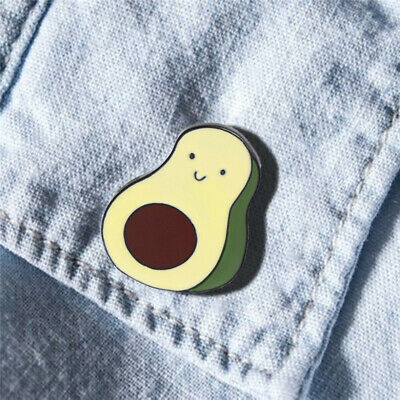 Women Avocado Enamel Lapel Pin Badge Brooch Cute Hipster Fruit Pear Gift B