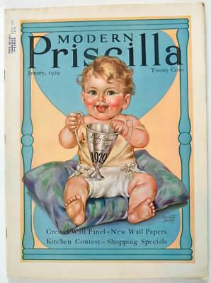 Vintage The Modern Priscilla Magazine January 1929 Antique Baby Show First Prize