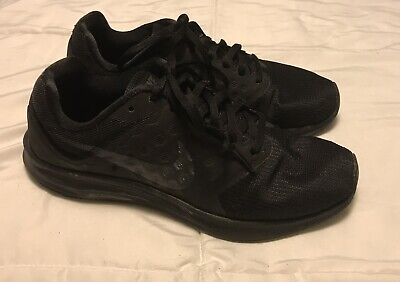 56963200f9ed6 Men s NIKE DOWNSHIFTER 7 Black Casual Athletic Running Sneakers Shoes Size  7.5