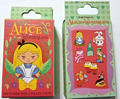 Disney Collectible Pin Pack ALICE IN WONDERLAND Mystery Box of 2 Pins Sealed NEW