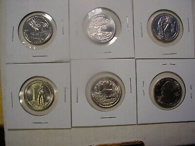 2013 All Five S America the Beautiful Quarters -  BU - 5 Coins - Uncirculated