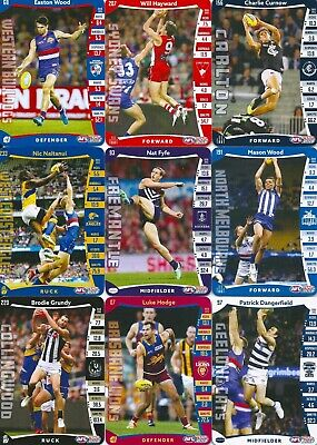 2019 afl teamcoach single common card you choose your player