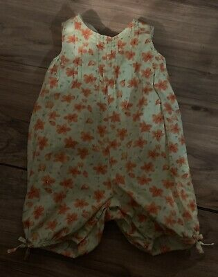d4eeae57e Gymboree Wildflower Fields Girls One Piece Outfit Romper Size 3-6 Months  Green