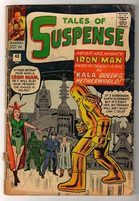 MARVEL Comics TALES OF SUSPENSE #43 IRON MAN GOLD ARMOUR 1963 G 2.0