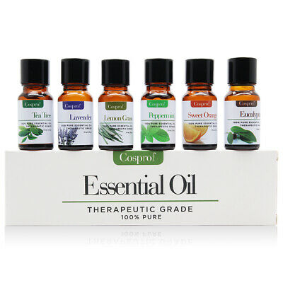 Essential Oil Gift Set Sampler Kit 6 - 10 ml 100% Pure Therapeutic Grade Lot