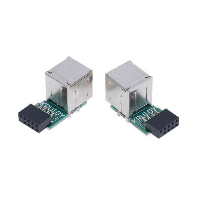 9Pin Motherboard to Double Layer 2Port USB2.0 A Female Internal Header AdapterJK