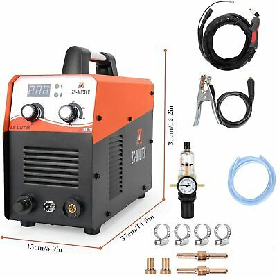 "Plasma Cutter 50Amps 110/220V Dual Volts AC 1/2"" Clean Cut Inverter Cutting Mach"