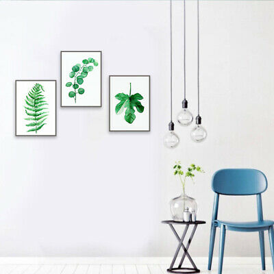 NEW Nordic Plant Art Wall Painting Canvas Unframed Printing Picture Home Welt