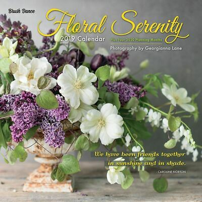 2019 Floral Serenity Wall Calendar,  by Brush Dance