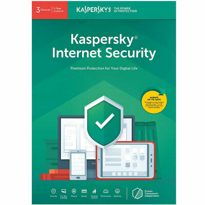 Kaspersky Internet Security 2019 For 3 Devices, 1 Year Brand New Sealed UK