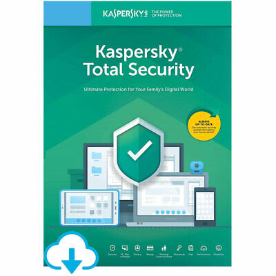 Kaspersky Total Security 2020 Anti Virus 5 Devices, 1 Year Brand New Sealed New