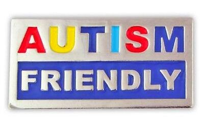 Autism Friendly Lapel Pin Tac Asperger Awareness Colored Letters Support New