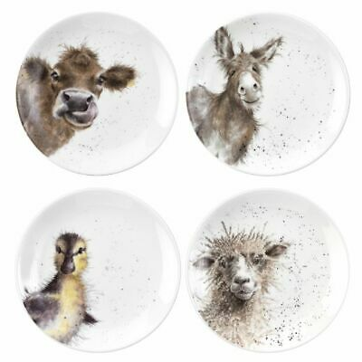 Wrendale By Royal Worcester - Set of 4 16.5cm Coupe Plates