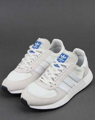 hot sale online e15db 3012b adidas Marathon Tech Trainers in White - vintage inspired runner with Boost  sole