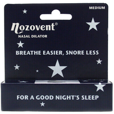 Pharmacure Nozovent Nasal Dilator Snoring Prevention Aid - Pack of 2 - Medium
