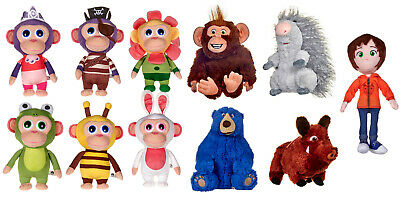 "New Official 9"" Wonder Park Soft Plush Toys Chimpanzombies June Boomer Greta"