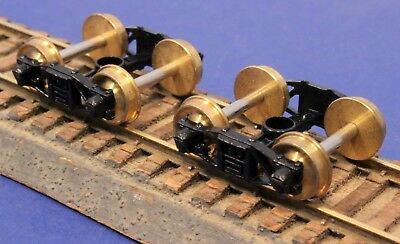 Lot of HO Scale Replacement Metal Arch Bar Trucks w/Wheels Axles & Shoes #2902