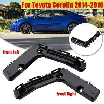 Bumper Bracket For 2011-2013 Toyota Corolla Set of 2 Front Left /& Right Side