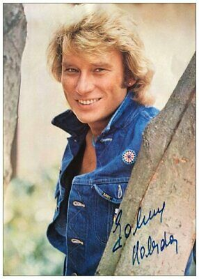 johnny hallyday carte postale