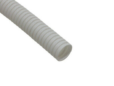 25mm White Flexible Polypropylene IP44 Conduit - 50m Length