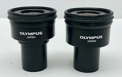 Pair OLYMPUS 35 WK 10x/20L 10x Microscope Eyepieces Eye Piece Oculars 🔬