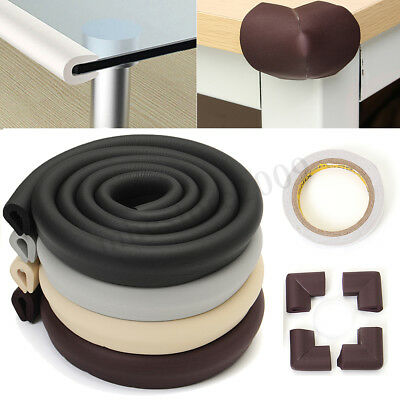 Baby Child Safety Bumper Protector 2M Edge + 4pcs Table Desk Corners Cushion