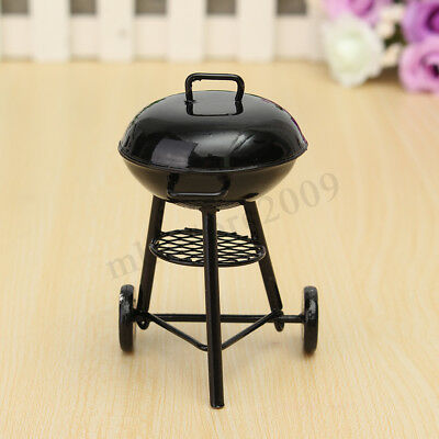 DIY 1:12 Dollhouse Miniature Kitchens Picnic Grill BBQ Cooking Oven Metal /