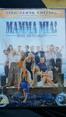 Mamma Mia Here We Go Again DVD - SINGALONG - NEW sealed