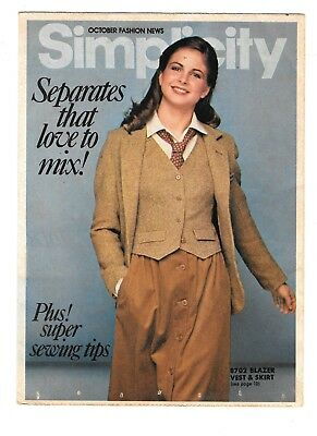 1978 Simplicity October Fashion News Pattern Pamphlet Separates