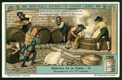 A 17th Century European Beer Ale Brewery History 1910 Trade Ad  Card