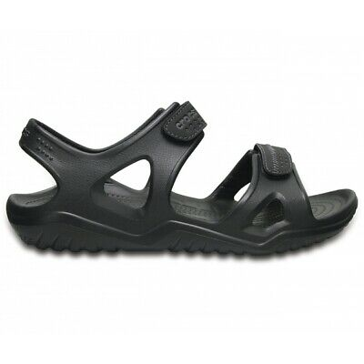 Crocs SWIFTWATER RIVER SANDAL Mens Touch Fastened Croslite Sports Sandals Black
