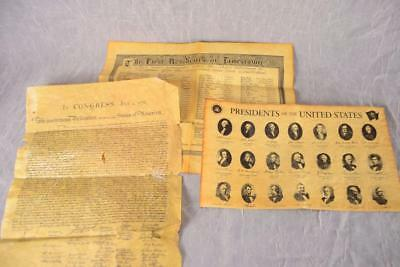 Declaration United States America Presidents 1-43 Residence Jamestown Replicas