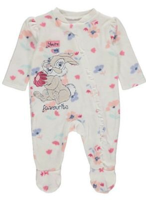 "NEWBORN BABY GIRL DISNEY ""THUMPER"" FLEECE SLEEPSUIT - FIRST SIZE Up to 9lb"