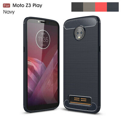 Hybrid TPU Shockproof Brushed Carbon Fiber Armor Case For Moto C E4 G5 G5S Plus