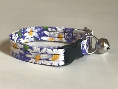 DAISIES DAISY ON PURPLE CAT OR KITTEN COLLAR (you choose the size)