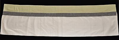 490ac3dceac8a New Wendy Bellissimo Honey Bee Window Valances (2) Green Gingham NWOT