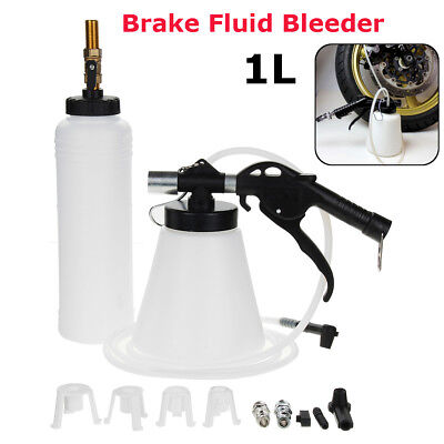 1L Brake Fluid Bleeder Clutch Vacuum Bleeding Air Extractor Fill Adapter Bottle
