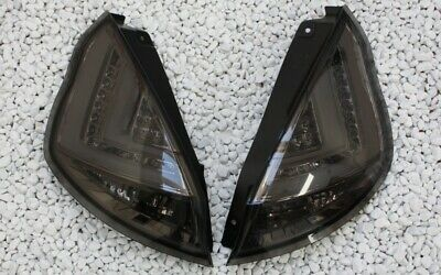 Klarglas Led Bar Rückleuchten Set Ford Fiesta Vi Mk7 13- Led Blinker Black Smoke