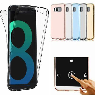 360 Full Protective Slim Clear TPU Case For Samsung Note 9 S9 J6 A6 A8 Plus 2018