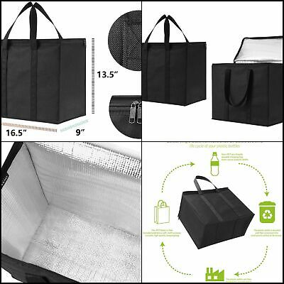 c114e0c28fe7 BLACK 2 INSULATED Shopping Grocery Bags Durable Heavy Duty Extra Large by  VENO