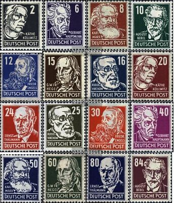 Soviet Zone (Allied.cast.) 212-227 used 1948 Personalities