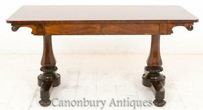 Regency Rosewood Library Table Desk Bureau 19th Century