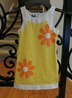 Zoe Yellow And White Flower Girls Dress - Size 4T