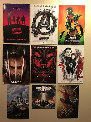 Marvel Avengers Infinity War Endgame Movie Poster 9 Set Thor Guardians Of Galaxy