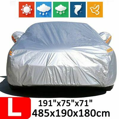 L 190T Waterproof Universal Full Car SUV Cover Scratchproof Dust Rain Protection