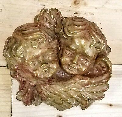Vintage set of 3 Cherubs Angels Wall Plaque Decor Cupid Eros